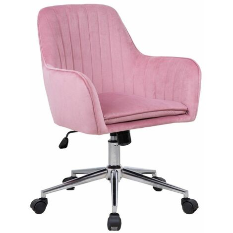 Neo Pink Cushioned Velvet Computer Home Office Chair
