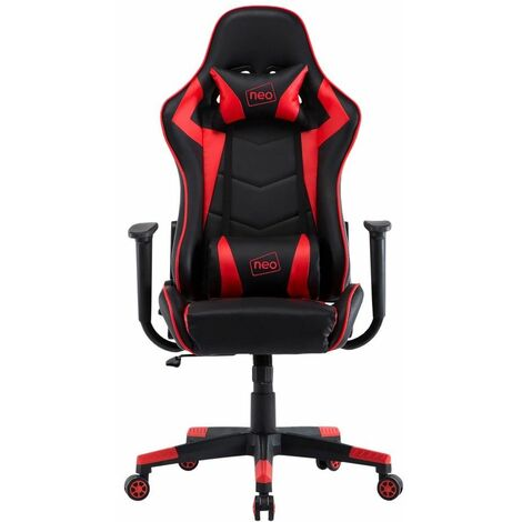 Neo Red Adjustable Racing Gaming Office Swivel Recliner Leather Chair