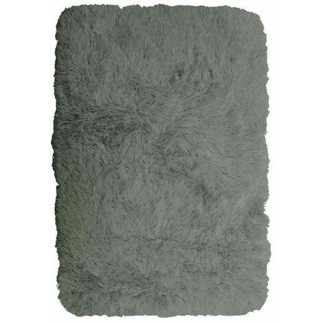 NEO YOGA - <p>Tapis à poils longs extra-doux gris clair 60x90</p> - Gris