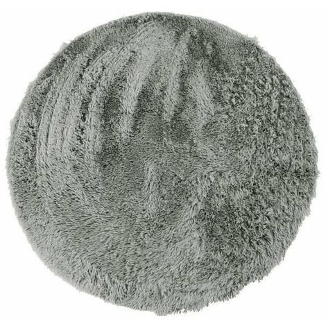 NEO YOGA Tapis de salon ou chambre - Microfibre extra doux - Ø 120 cm - Gris clair