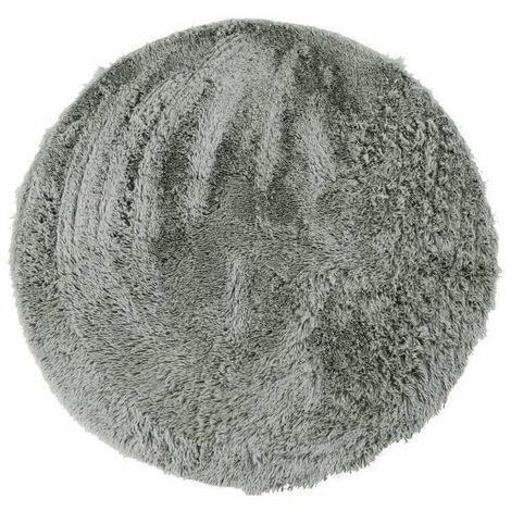 NEO YOGA Tapis de salon ou chambre - Microfibre extra doux - Ø 160 cm - Gris clair
