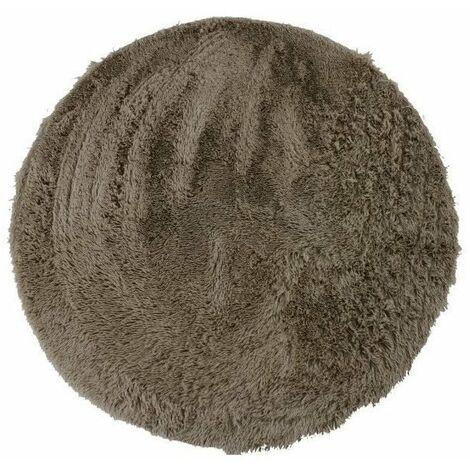NEO YOGA Tapis de salon ou chambre - Microfibre extra doux - Ø 160 cm - Taupe