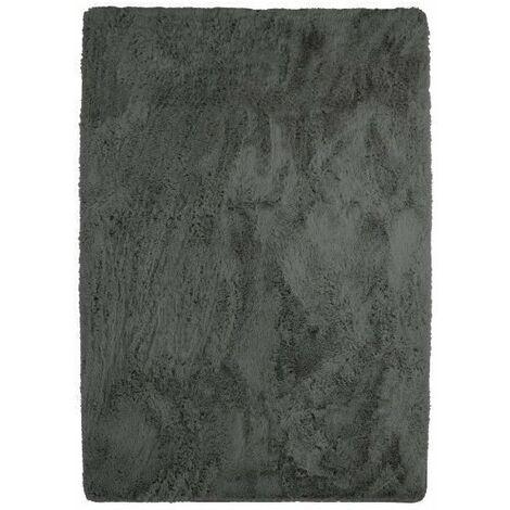 NEO YOGA Tapis de salon ou chambre - Microfibre extra doux - 225 x 340 cm - Gris foncé