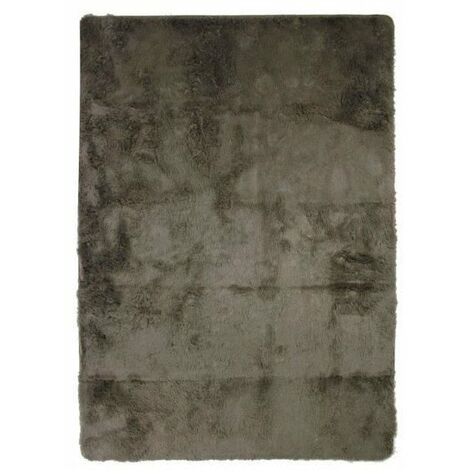 NEO YOGA Tapis de salon ou chambre - Microfibre extra doux - 225 x 340 cm - Taupe