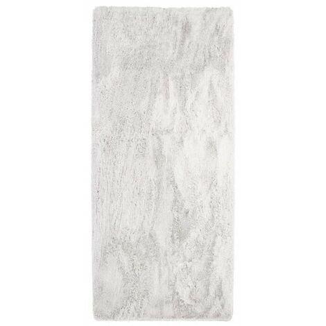 NEO YOGA Tapis de salon ou chambre - Microfibre extra doux - 80 x 180 cm - Blanc