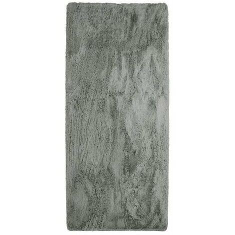 NEO YOGA Tapis de salon ou chambre - Microfibre extra doux - 80 x 180 cm - Gris clair
