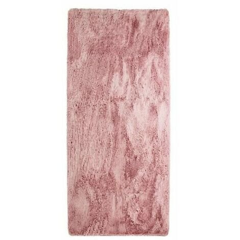NEO YOGA Tapis de salon ou chambre - Microfibre extra doux - 80 x 180 cm - Rose