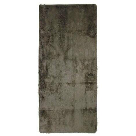NEO YOGA Tapis de salon ou chambre - Microfibre extra doux - 80 x 180 cm - Taupe