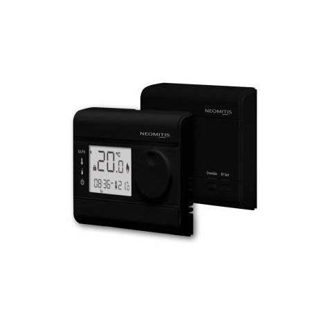 Neomitis Wireless 7 Day Prog Room Thermostat Black RT7RFB