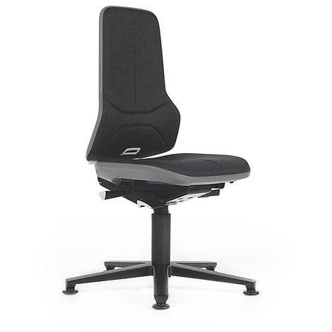 NEON Arbeitsdrehstuhl, mit Gleitern, Sitzmaterial Stoff, Flexband grün -