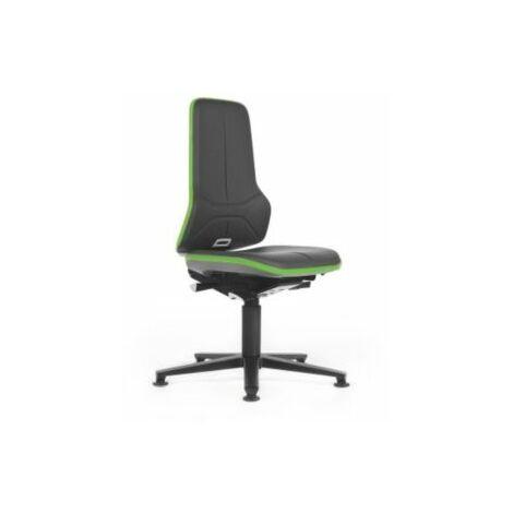 NEON Arbeitsdrehstuhl, Sitzausführung Kunstleder, Flexband grün Bürostühle