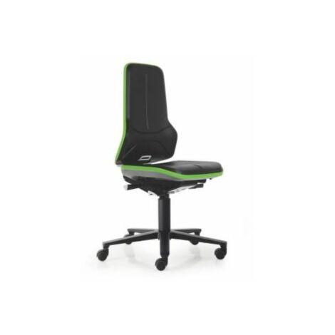 NEON Arbeitsdrehstuhl, Sitzmaterial Integralschaum, Flexband grün Bürostühle