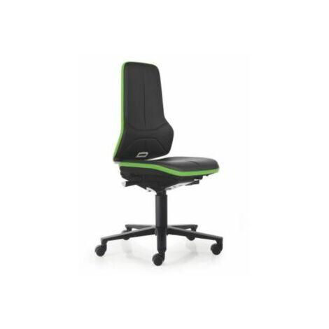 NEON Arbeitsdrehstuhl, Sitzmaterial Kunstleder, ESD, Flexband grün Bürostühle