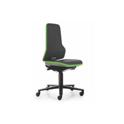 NEON Arbeitsdrehstuhl, Sitzmaterial Kunstleder, Flexband grün Bürostühle