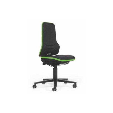 NEON Arbeitsdrehstuhl, Sitzmaterial Stoff, ESD, Flexband grün Bürostühle