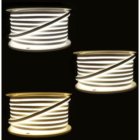 Néon Flexible LED 220V 50M 2835 120LED/m - Blanc Chaud 2300K - 3500K