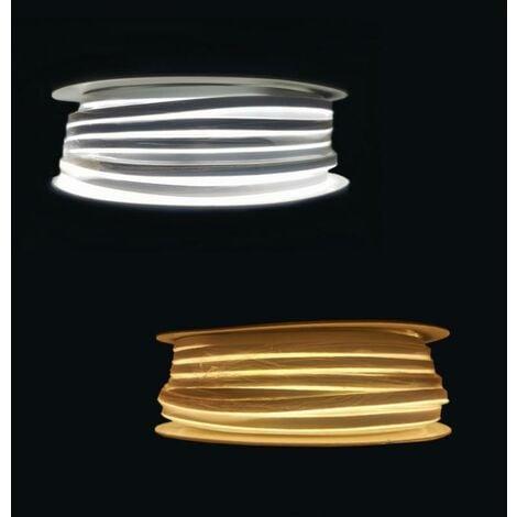 Néon Flexible LED 24V 50M IP65 120LED/m - Blanc Froid 6000K - 8000K