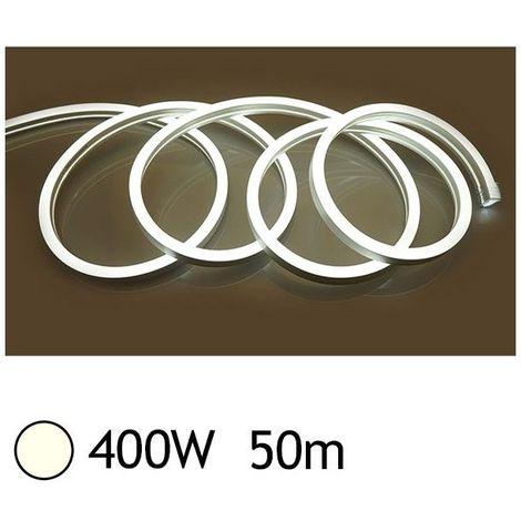 NEON LED FLEXIBLE 400W 230V Blanc jour 4000°K 50m 27/15 Gainage IP65 sécable