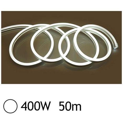 NEON LED FLEXIBLE 400W 230V Blanc jour 6000°K 50m 27/15 Gainage IP65 sécable