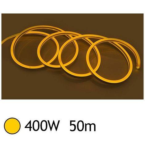 NEON LED FLEXIBLE 400W 230V Couleur JAUNE 50m 18/11 Gainage IP65 sécable