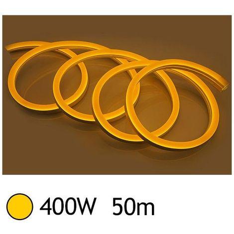 NEON LED FLEXIBLE 400W 230V Couleur JAUNE 50m 27/15 Gainage IP65 sécable