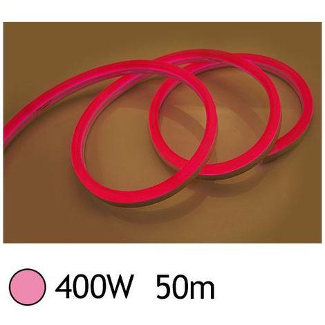 NEON LED FLEXIBLE 400W 230V Couleur ROSE 50m 27/15 Gainage IP65 sécable