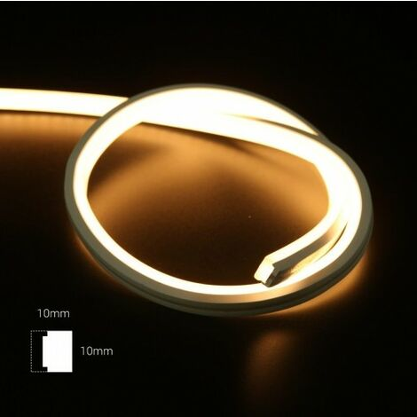 Néon LED flexible 70W 24V 10X10mm IP67 - 5 mètres