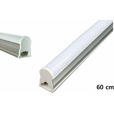 Neon led smd t5 10W luce fredda plafoniera sottopensile applique silver 60cm DR