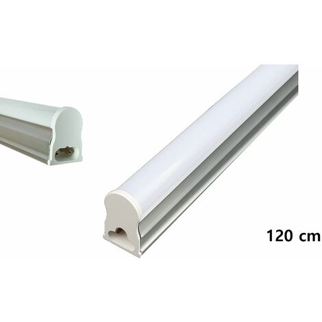 Neon led smd t5 18W luce fredda plafoniera sottopensile applique silver 120cm DR