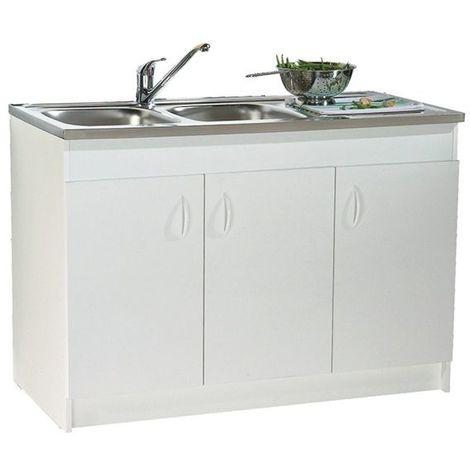meuble sous vier n f 3 portes blanc 1200x600 s12n03120. Black Bedroom Furniture Sets. Home Design Ideas