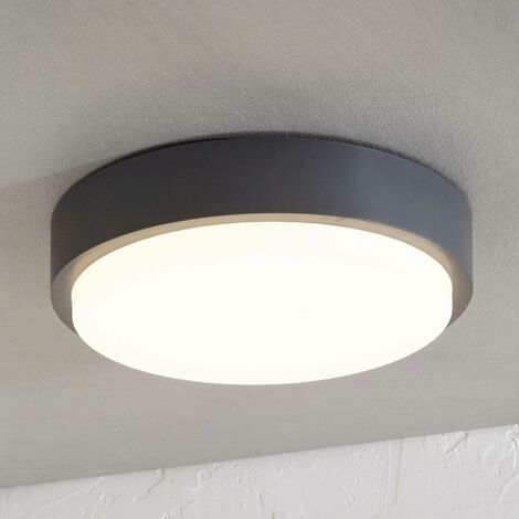 Nermin LED outdoor ceiling lamp, IP65, round