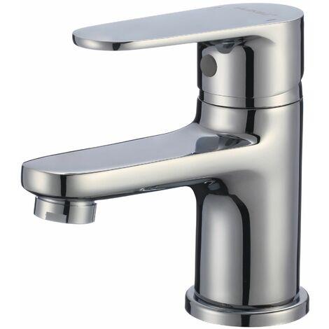 NERO Robinet mitigeur vasque lavabo + siphon inclus