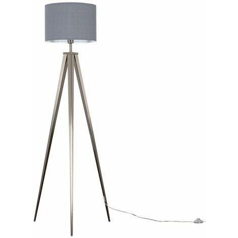 Nero Tripod Floor Lamp - Grey - Silver