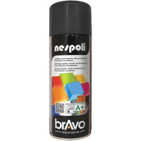 NESPOLI Aerosol peinture professionnelle effet satine noir 400mL