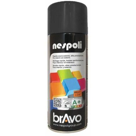NESPOLI Aerosol peinture professionnelle noir mat 400mL
