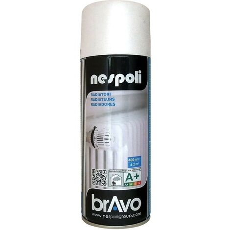 NESPOLI Aérosol Peinture radiateurs Blanc 0,4 L - Blanc