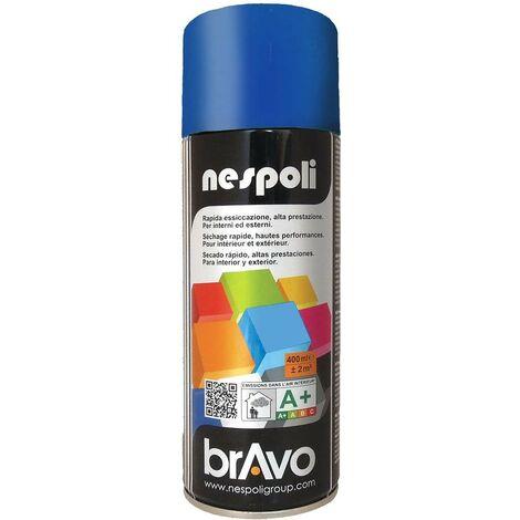 NESPOLI Peinture Aérosol BRAVO Bleu trafic - 0,4 L