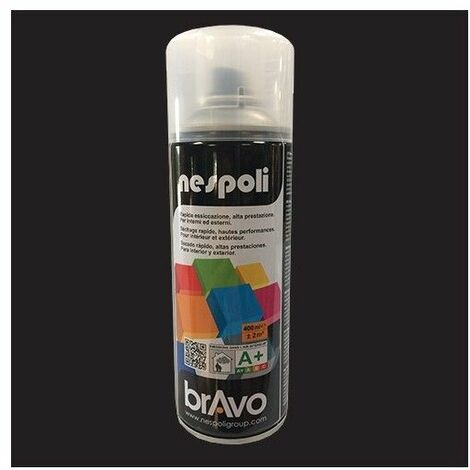 "main image of ""NESPOLI Peinture Aérosol BRAVO Noir - 0,4 L - Brillant"""