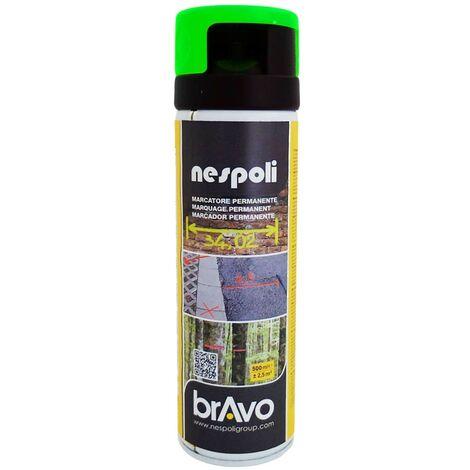 NESPOLI Peinture Aérosol Marquage Permanent Vert Fluo - 0,5 L