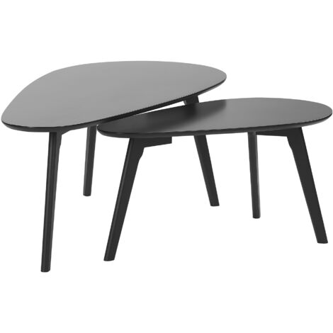 Nest of 2 Tables Black FLY III