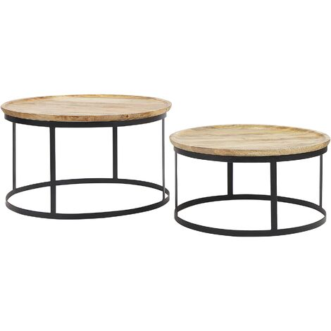 Nest of 2 Tables Dark Wood OSIAN