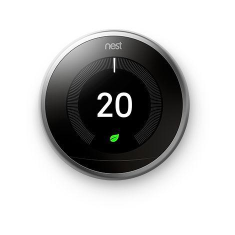 "main image of ""Nest thermostat acier inoxydable"""