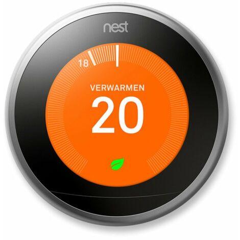 """main image of """"Nest thermostat intelligent de troisième génération - argent/noir"""""""