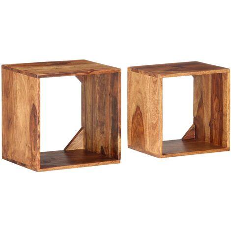 Nesting Tables 2 pcs Solid Sheesham Wood