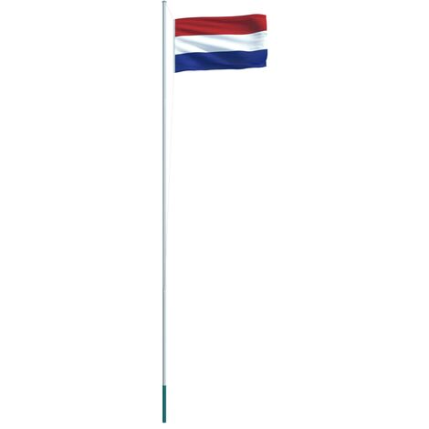 Netherlands Flag and Pole Aluminium 6.2 m (146069+146039)