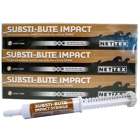 Nettex Substi-Bute Syringe Liquid Supplement For Horses (Pack Of 3) (3 x 30ml) (May Vary)