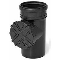 Nettoyage du système de rinçage de gouttière avec filtre 110mm Diamètre du tuyau Couleur du graphite
