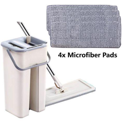 Nettoyage Magique Vadrouilles Main Libre Essorage Nettoyage Microfibre Vadrouille avec Seau Hasaki