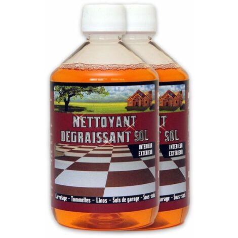 NETTOYANT DÉGRAISSANT SOL - Nettoyant carrelage sol terrasse terre cuite tomette linoleum lino degraissant sol plastique