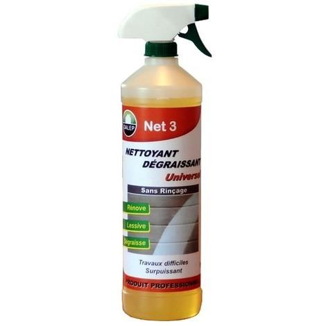 Nettoyant dégraissant universel NET 3 sans rinçage DALEP - Pulvérisateur 1L - 405001